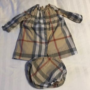 Burberry checkered dress with bloomers